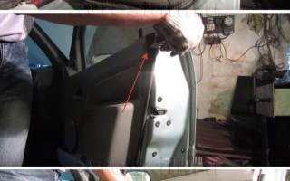 Как снять обшивку передней двери рено логан